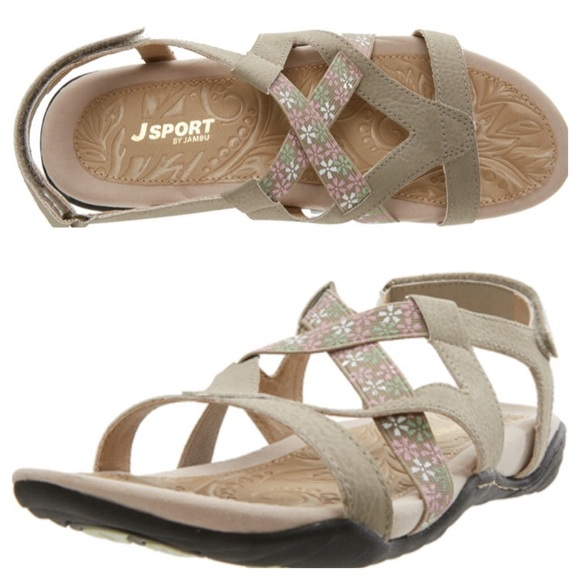 d26df2ae4a Jambu Shoes | J Sport By Woodland Taupe Sandals | Poshmark